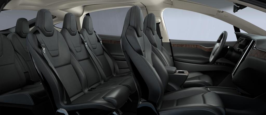 Tesla model X interni