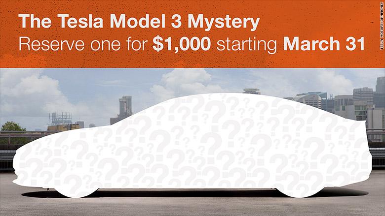 Tesla Model 3 presentazione 31 marzo