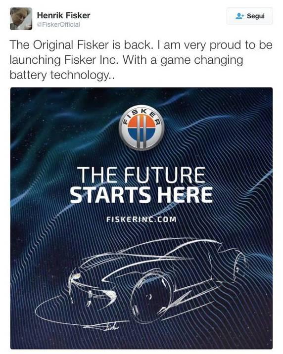 Account twitter ufficiale di Henrik Fisker