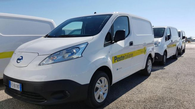 Poste Italiane: flotta elettrica con Nissan e-NV200